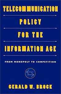 Telecommunication Policy for the Information Age: From Monopoly to Competition Издательство: Harvard University Press, 1998 г Мягкая обложка, 336 стр ISBN 0674873262 инфо 4516h.